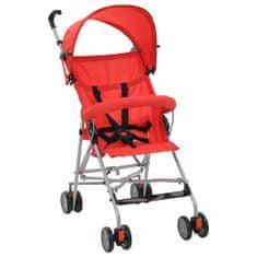 shumee Składany wózek spacerowy, czerwony, stal
