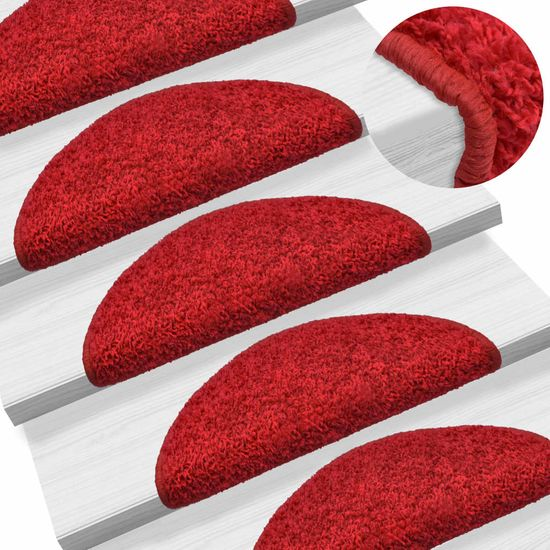 shumee 15 darab piros lépcsőszőnyeg 56 x 20 cm
