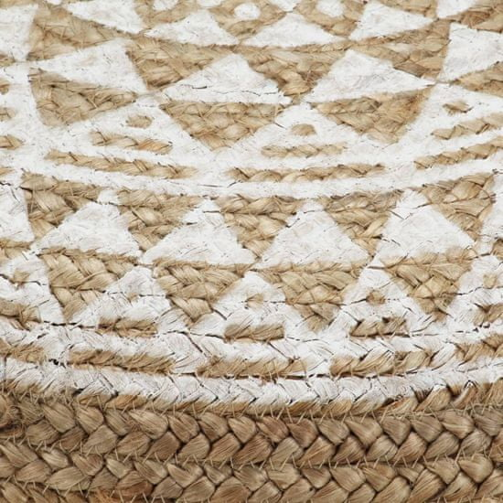 slomart Tabure ročno izdelan bel 45x30 cm juta