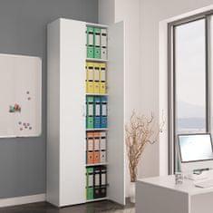 shumee Kancelářská skříň bílá 60 x 32 x 190 cm dřevotříska