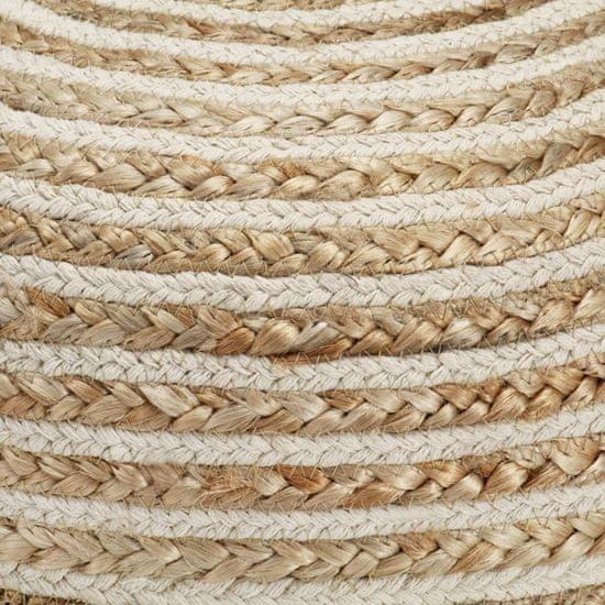 shumee Ręcznie robiony puf, 40 x 45 cm, juta