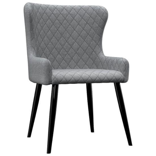 slomart Jedilni stoli 4 kosi svetlo sivo blago