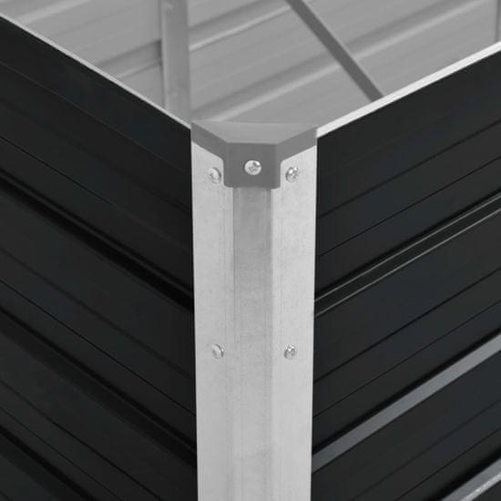 shumee Podwyższona donica, antracyt, 100x40x45 cm, galwanizowana stal
