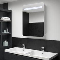 shumee tükrös fürdőszobaszekrény LED világítással 60 x 11 x 80 cm
