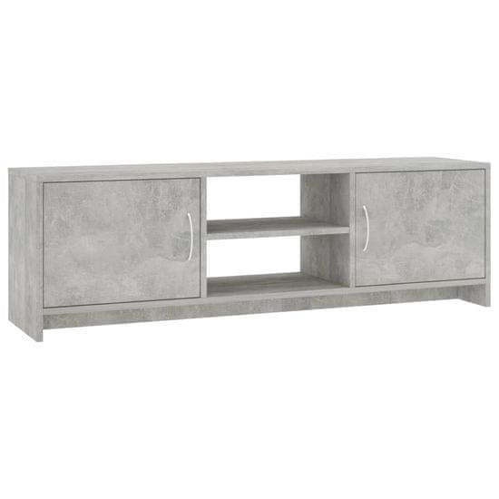 shumee TV omarica betonsko siva 120x30x37,5 cm iverna plošča