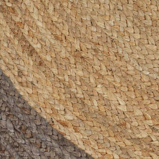 shumee szürke szélű kézzel font jutaszőnyeg 120 cm