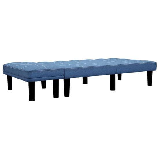 shumee kétszemélyes kék szövet kanapé
