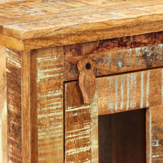shumee Stenska omarica iz trdnega predelanega lesa 44x21x72 cm