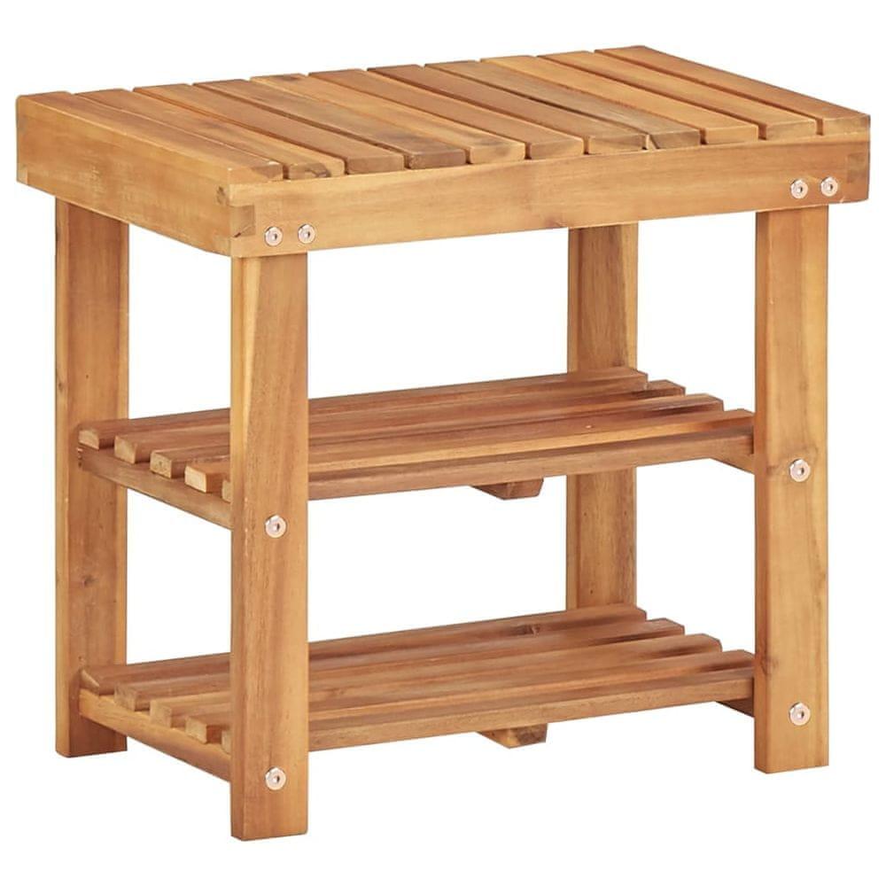 Vidaxl Botník 50 x 32 x 45 cm masivní akáciové dřevo