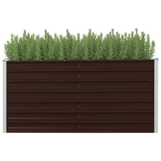 shumee barna horganyzott acél kerti magaságyás 160 x 40 x 77 cm