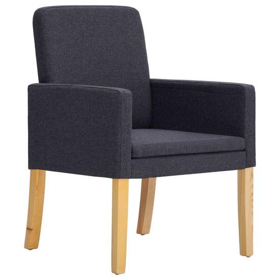 shumee Jedilni stoli 4 kosi temno sivo blago