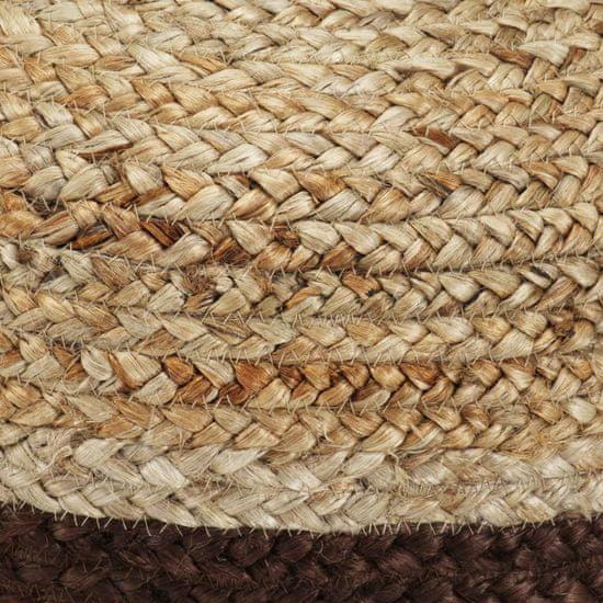 shumee Ręcznie robiony puf, brązowy, 40 x 45 cm, juta