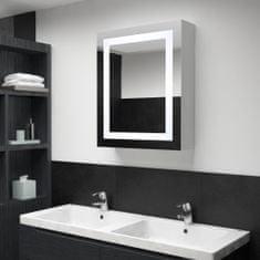LED koupelnová zrcadlová skříňka 50 x 13 x 70 cm