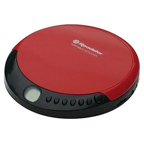 Roadstar CD přehrávač , PCD-435CD, CD/CD-R/CD-RW, červený