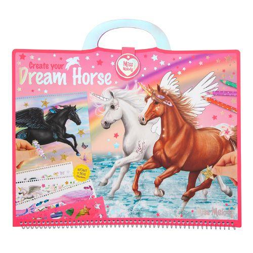 Miss Melody Pobarvanka, kreativni komplet , Sanjski konj, 305 nalepk