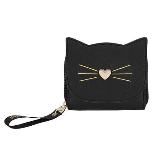 Top Model Peněženka , Černá s motivem kočky