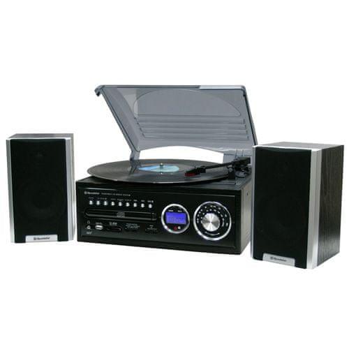Roadstar Gramofon , WOODEN HI-FI SYS WITH MINI TT-MP3 CD-ANALOGUE AM/FM RADIO-US