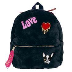 Top Model Mini hátizsák l, Sötétkék kutyával, plüss