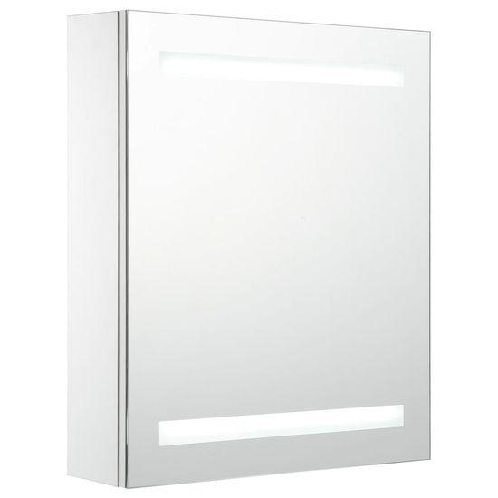 shumee Szafka łazienkowa z lustrem i LED, 50 x 14 x 60 cm