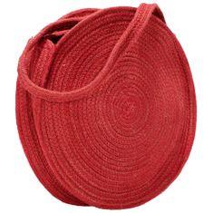 Greatstore Kulatá taška přes rameno rezavě červená ručně vyrobená juta