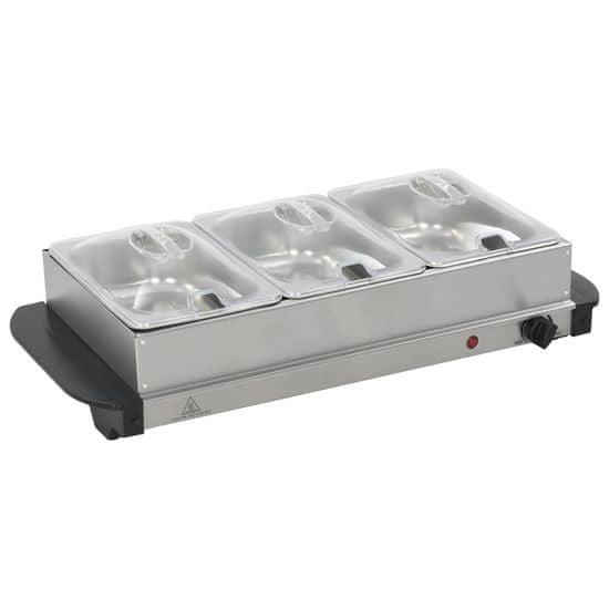 shumee Bufetový ohřívač nerezová ocel 200 W 3 x 1,5 l