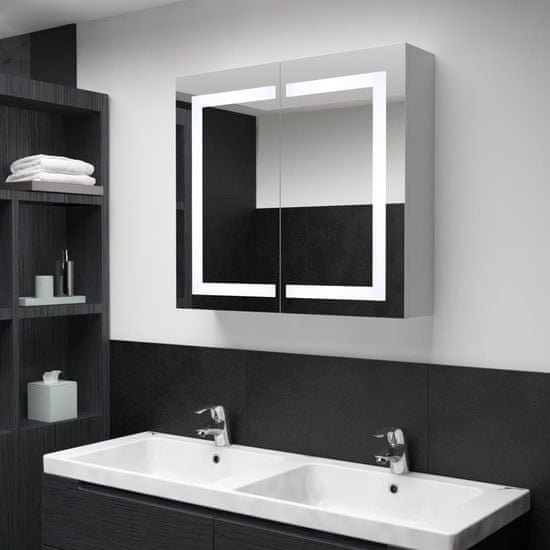 Vidaxl LED koupelnová zrcadlová skříňka 80 x 12,2 x 68 cm