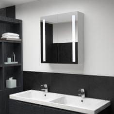 shumee LED koupelnová zrcadlová skříňka 60 x 14 x 62 cm