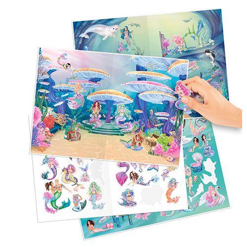 Fantasy Model Delovni zvezek Creative , Morska deklica, 149 nalepk
