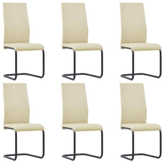 shumee Nihajni jedilni stoli 6 kosov kapučino umetno usnje
