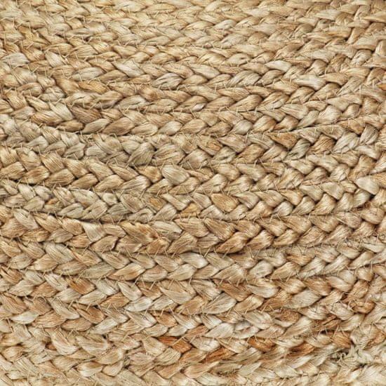 shumee Ręcznie robiony puf, szary, 40 x 45 cm, juta