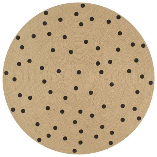 shumee Ręcznie wykonany dywanik, juta, w kropki, 90 cm