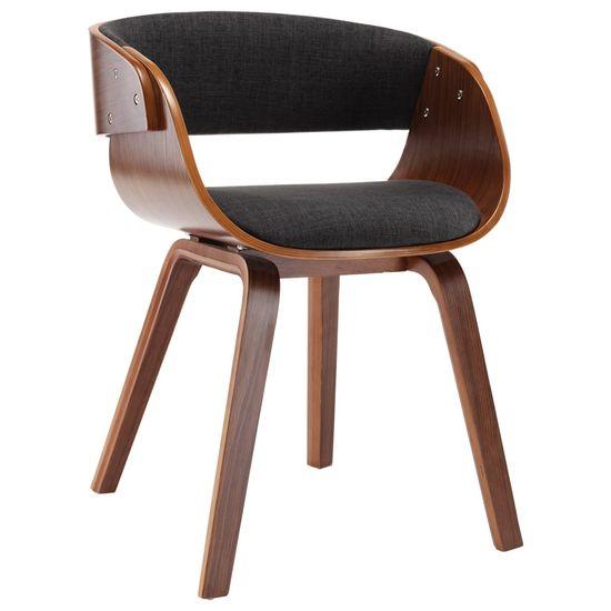 Petromila Jedálenská stolička sivá ohýbané drevo a látka