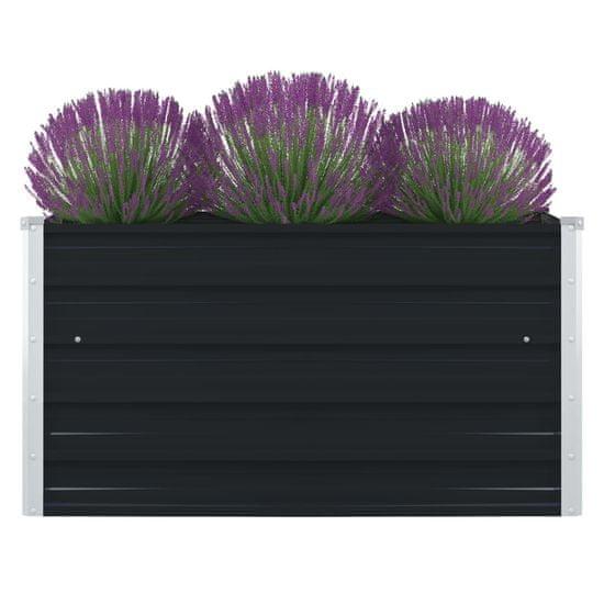 shumee Dvignjeno cvetlično korito 100x100x45 cm jeklo antracitno