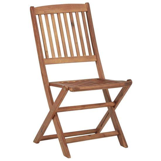 shumee Składane krzesła ogrodowe 6 szt., z poduszkami, drewno akacjowe