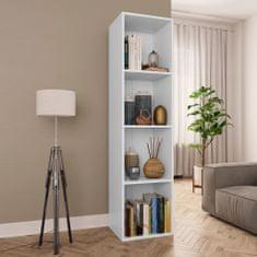 shumee Knihovna/TV skříň bílá 36 x 30 x 143 cm dřevotříska