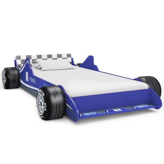 slomart Otroška postelja dirkalni avtomobil 90x200 cm modra