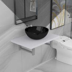 shumee Dvodelni komplet kopalniškega pohištva iz keramike bel