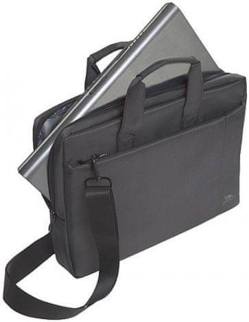 RivaCase torba za prenosnike 39,6 cm, siva