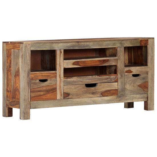 Petromila Komoda sivá 100x30x50 cm masívne sheeshamové drevo