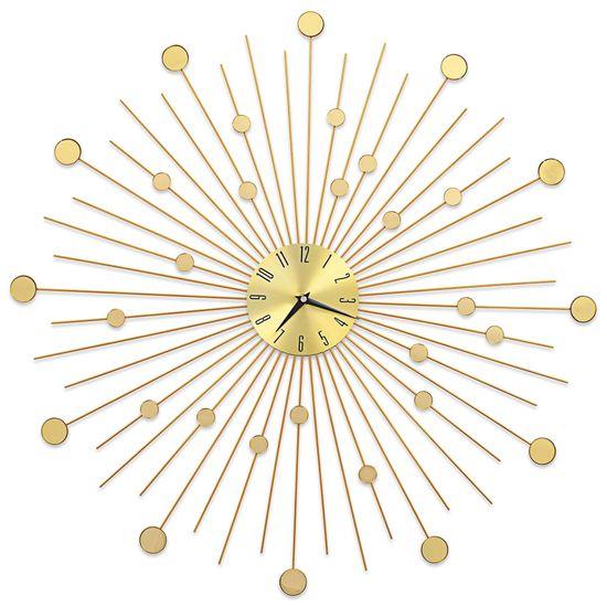 shumee  aranyszínű fém falióra 70 cm