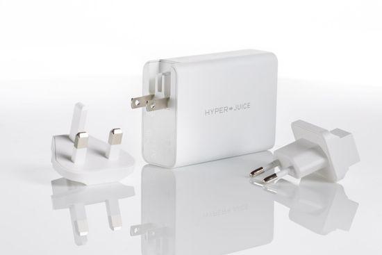 Hyper HyperJuice 100 W GaN nabíjací adaptér s 2x USB-C a 2x USB 3.0 vrátane cestovných redukcií (HY-HJ-GAN100)