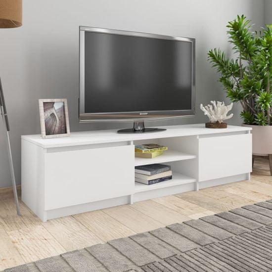 shumee TV omarica bela 140x40x35,5 cm iverna plošča