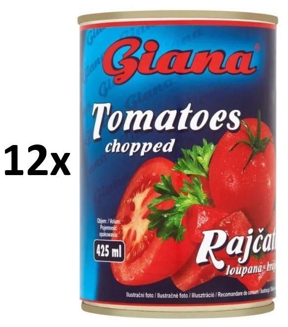 Giana Rajčata loupaná krájená 12× 425ml