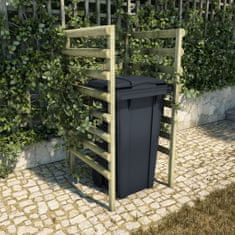 shumee Enojna lopa za smetnjak 70x80x150 cm impregnirana borovina