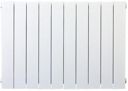 Lipovica Hliníkový radiátor PLANO - 700 - 20 článků, spodní připojení PLUS, levé, přímé, výkon 2940 Wattů