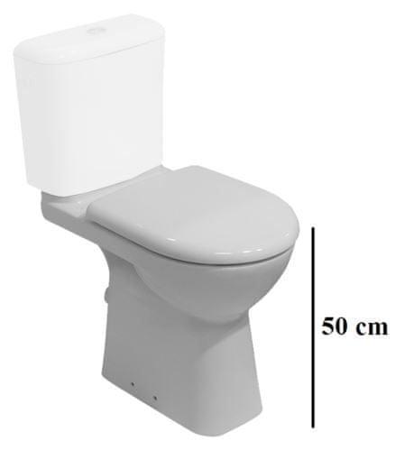 Klozet kombi JIKA DEEP bez nádržky, vod. 36x67x50, bílý