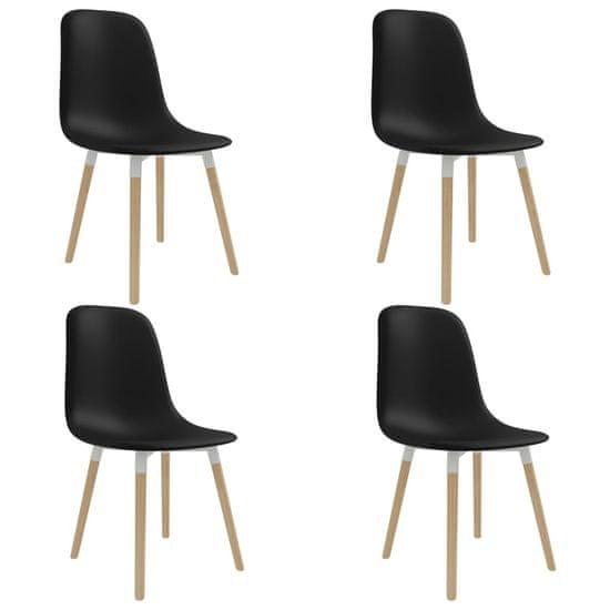 shumee Jedilni stoli 4 kosi črna plastika