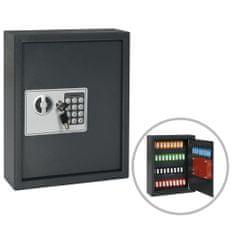 shumee Sef za ključe temno siv 30x10x36,5 cm