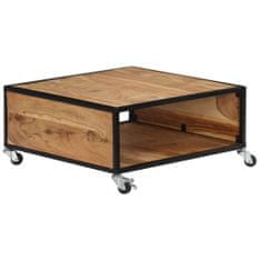shumee Klubska mizica 70x70x32 cm trden akacijev les