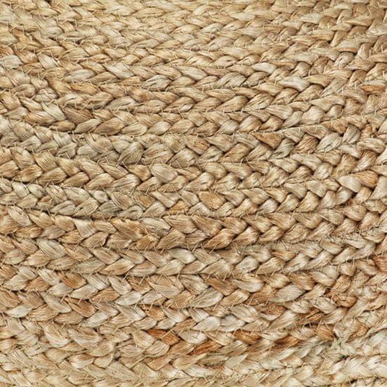 shumee Ręcznie robiony puf, zieleń oliwkowa, 40 x 45 cm, juta